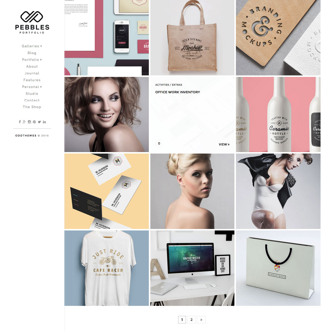 photography blogger template oddthemes