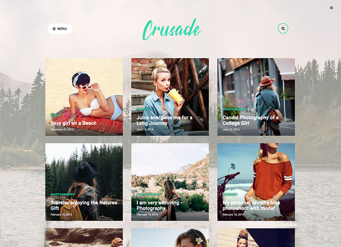 crusade photography blogger template