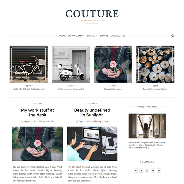 Couture Blogger Template Documentation