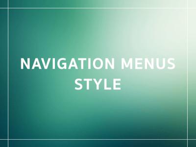 Line Menu style navigation menus