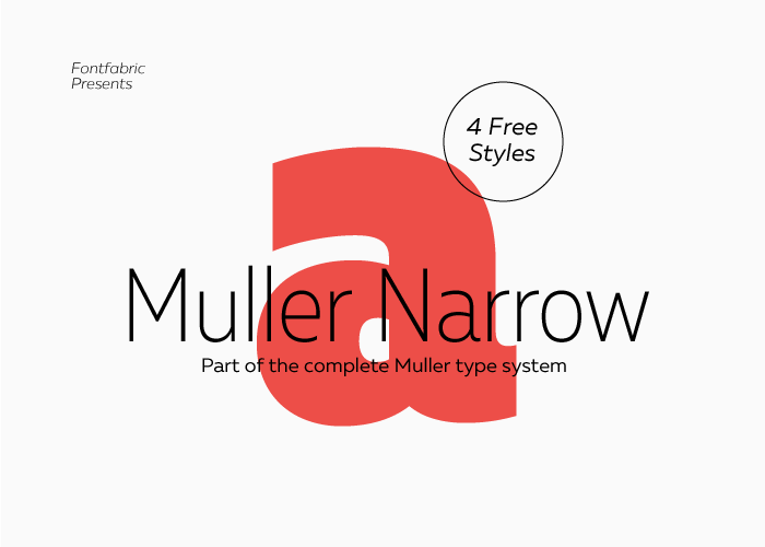 New Free Font Style – Mueller Narrow