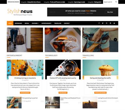 Stylish News Blogger Template Documentation