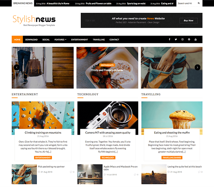 Stylish News Blogger Template Documentation Oddthemes Blog