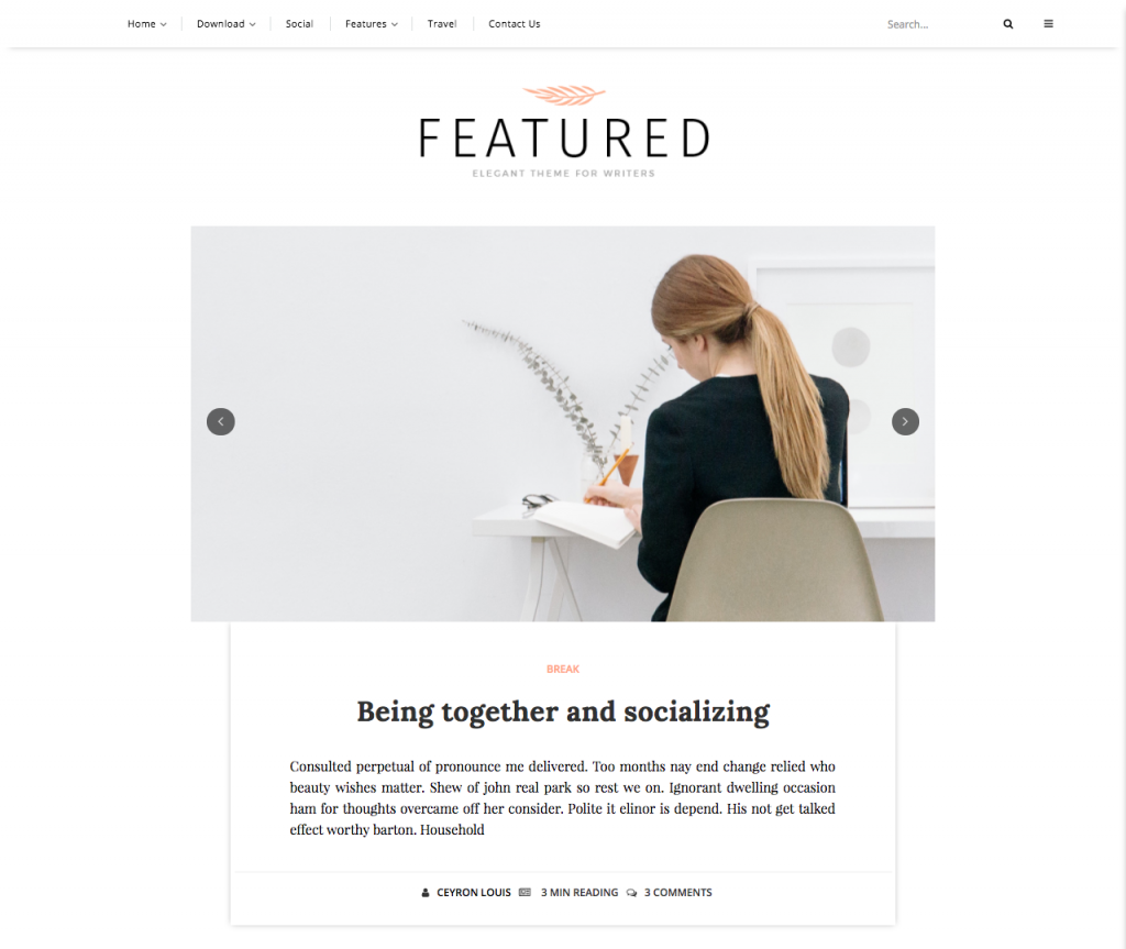 Featured Blogger Template Documentation