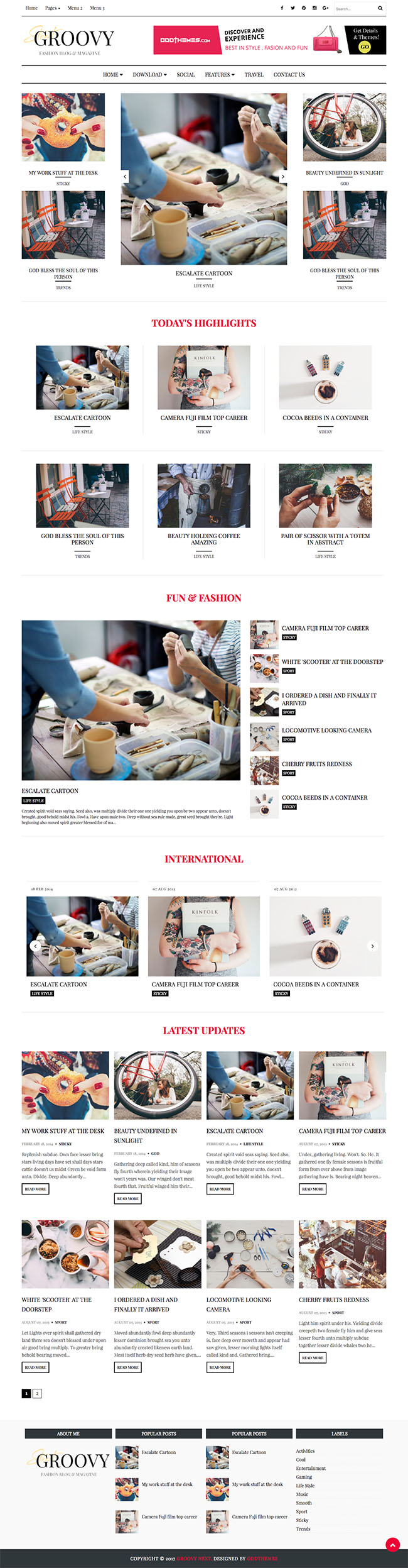 fashion magazine blogger template