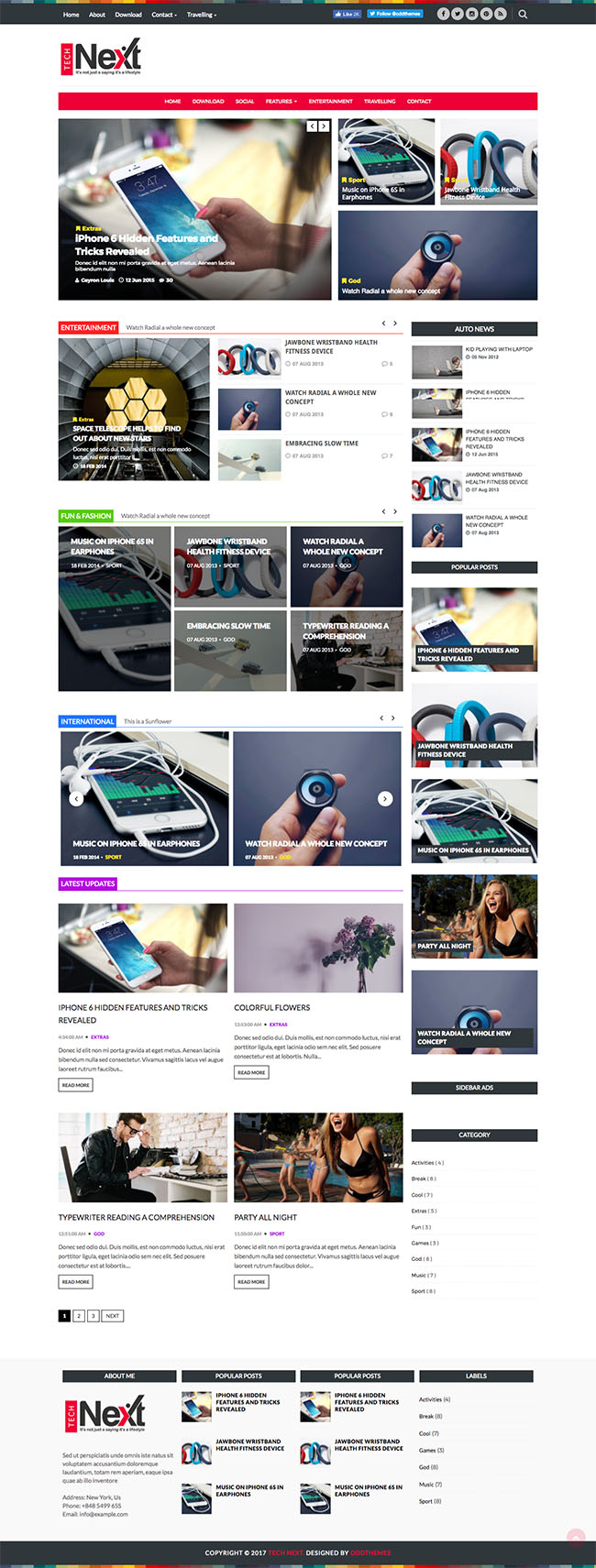 magazine blogger template oddthemes
