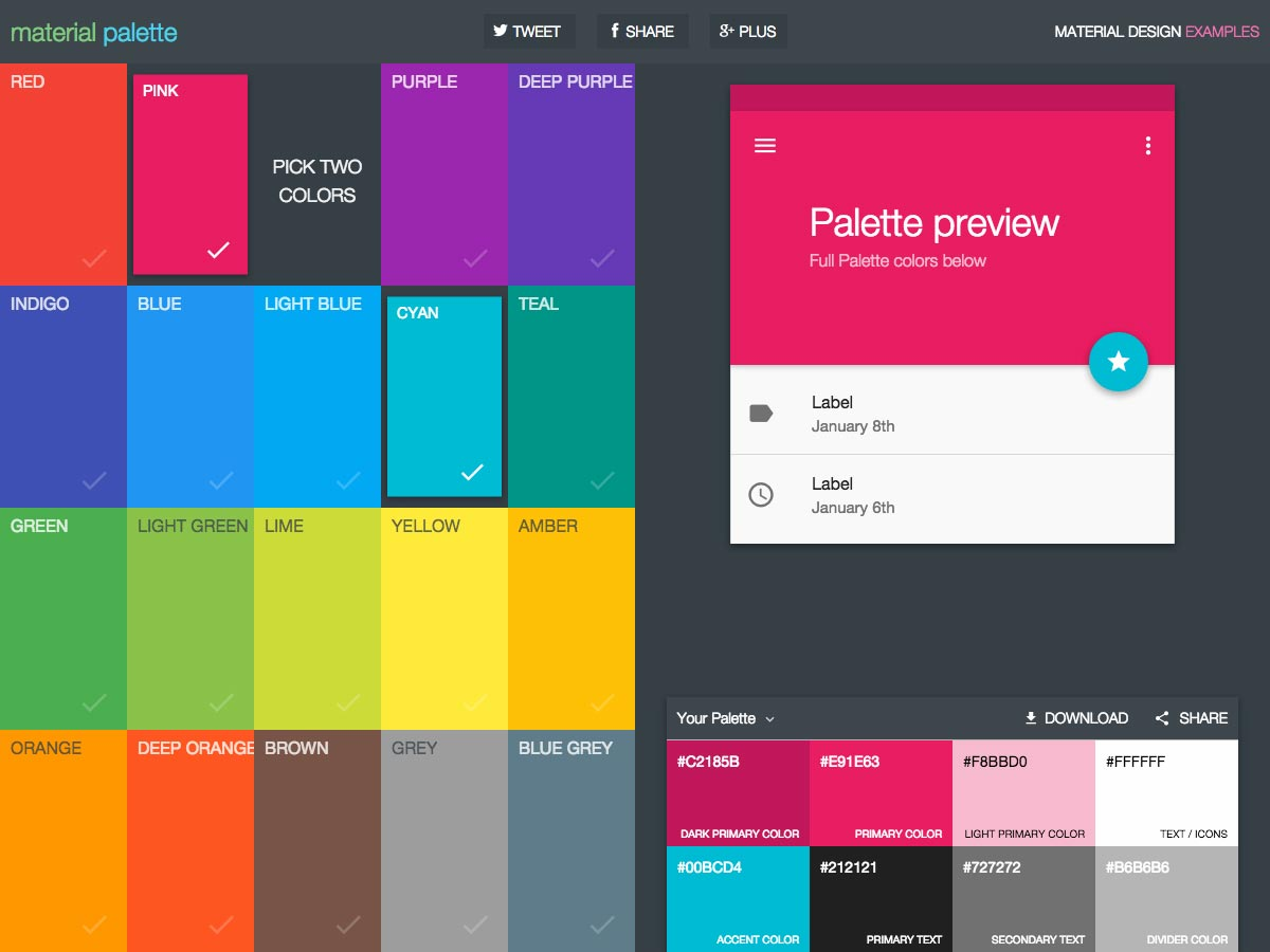 web design tips color palette