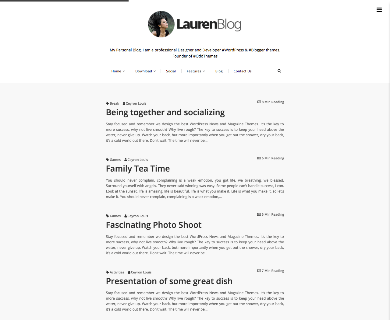 Lauren Blogger Template Documentation - OddThemes Blog