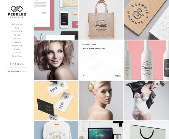 Pebbles elegant blogger template