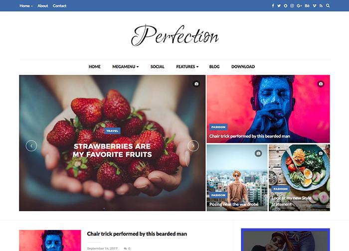 Perfection Premium Blogger Template