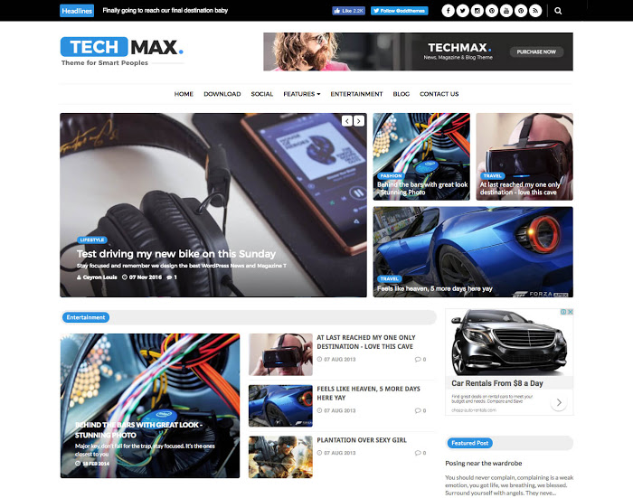 Techmax Technology Blogger Template
