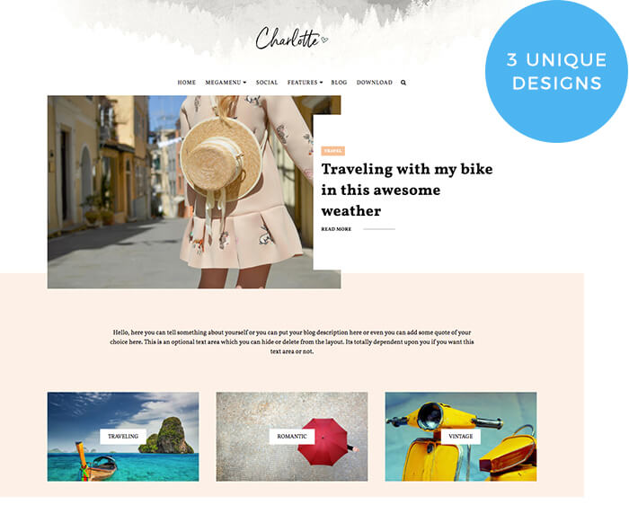 charlotte multipurpose blogger template