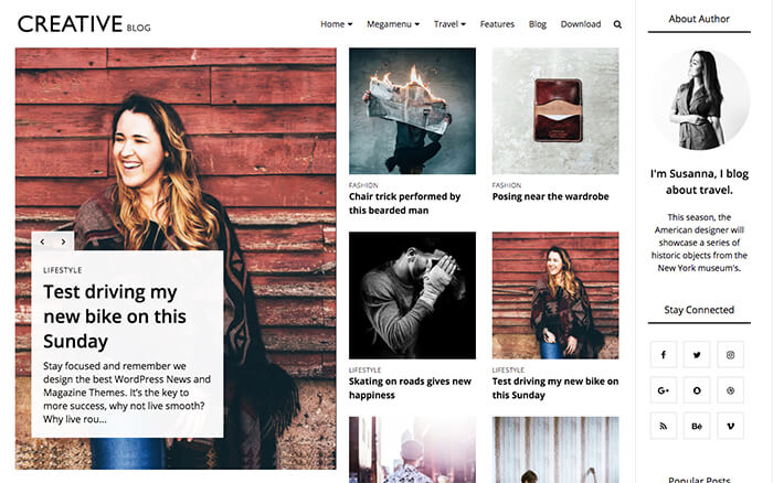 best creative blogger template