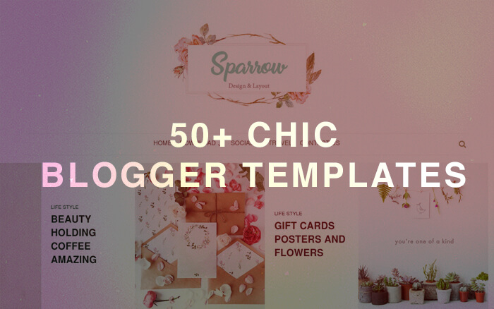 chic blogger template