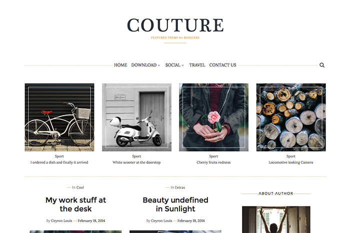 couture simple blogger template