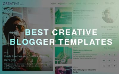 creative blogger template