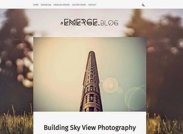 emerge simple blogger template