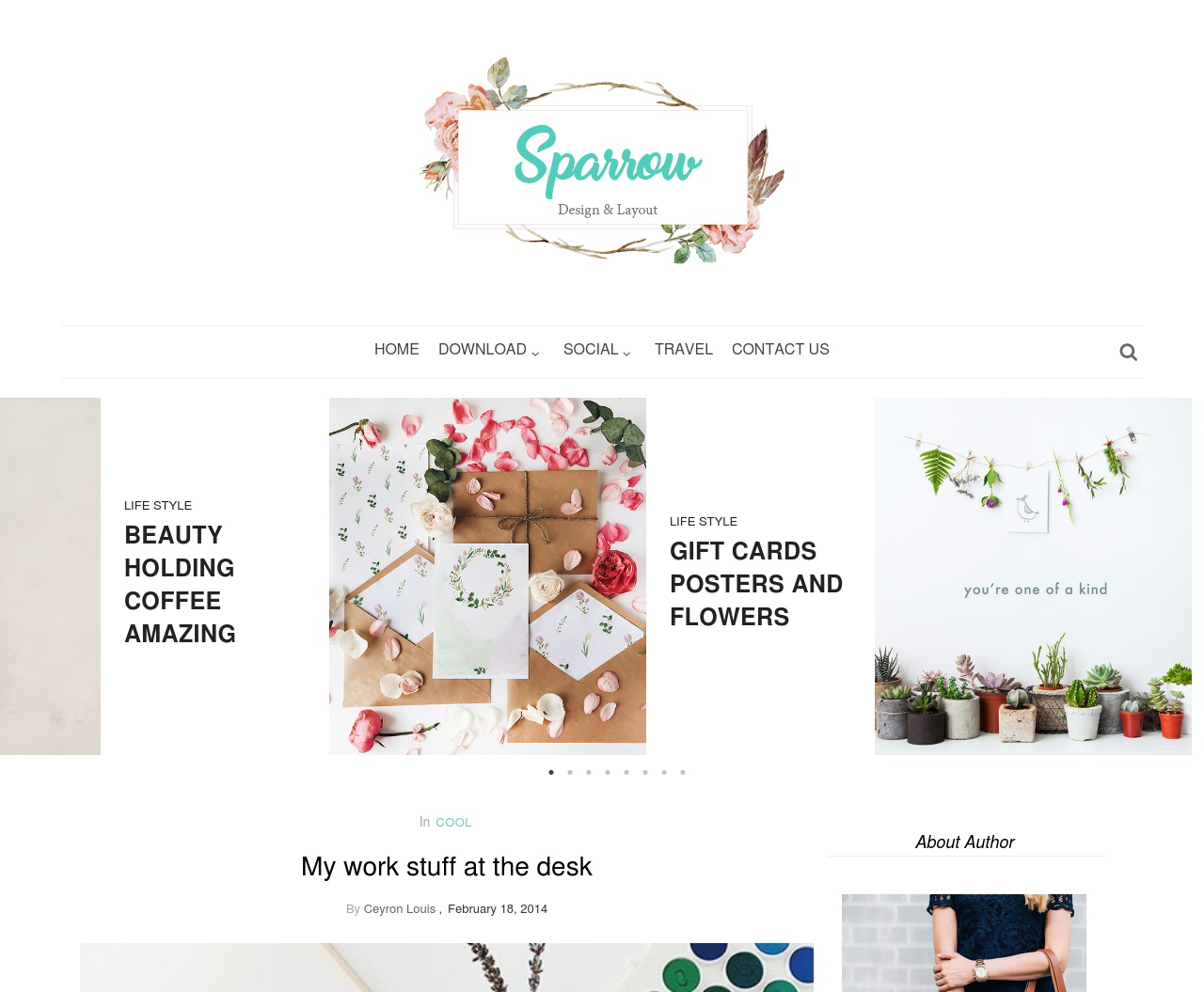 sparrow simple blogger template