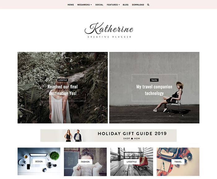simple blogger template katherine