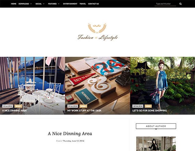 lifestyle simple blogger template