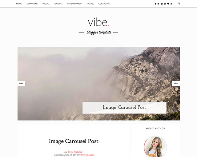vibe simple blogger template