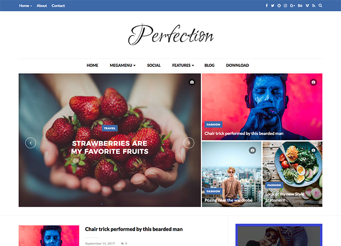 perfection simple blogger template