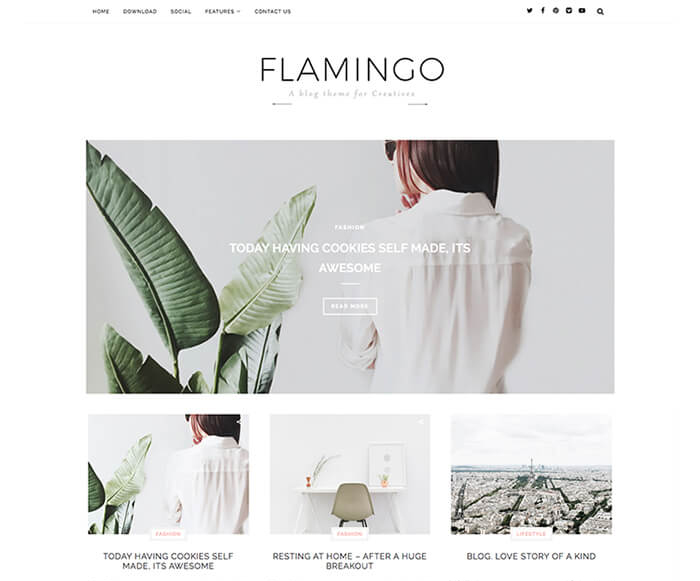 flamingo elegant blogger template