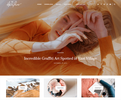 heather personal blogger template
