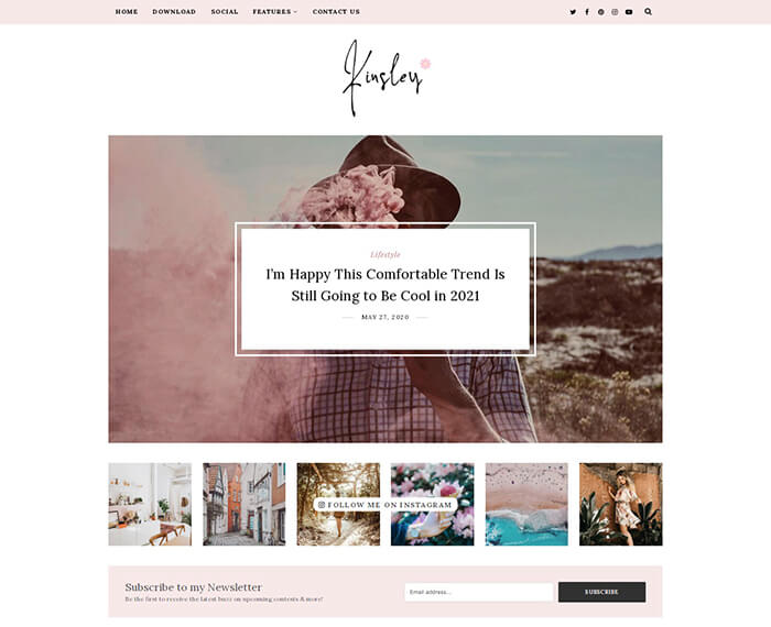 kinsley fashion blogger theme