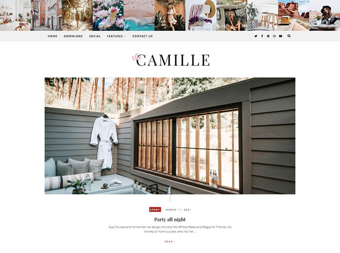 camille Fashion Blogger Template